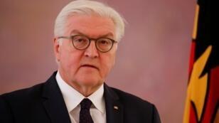 El presidente de la república federal, Frank-Walter Steinmeier, que tiene el poder de convocar nuevas elecciones tras disolver el Parlamento. Berlin, 20 de noviembre de 2017.