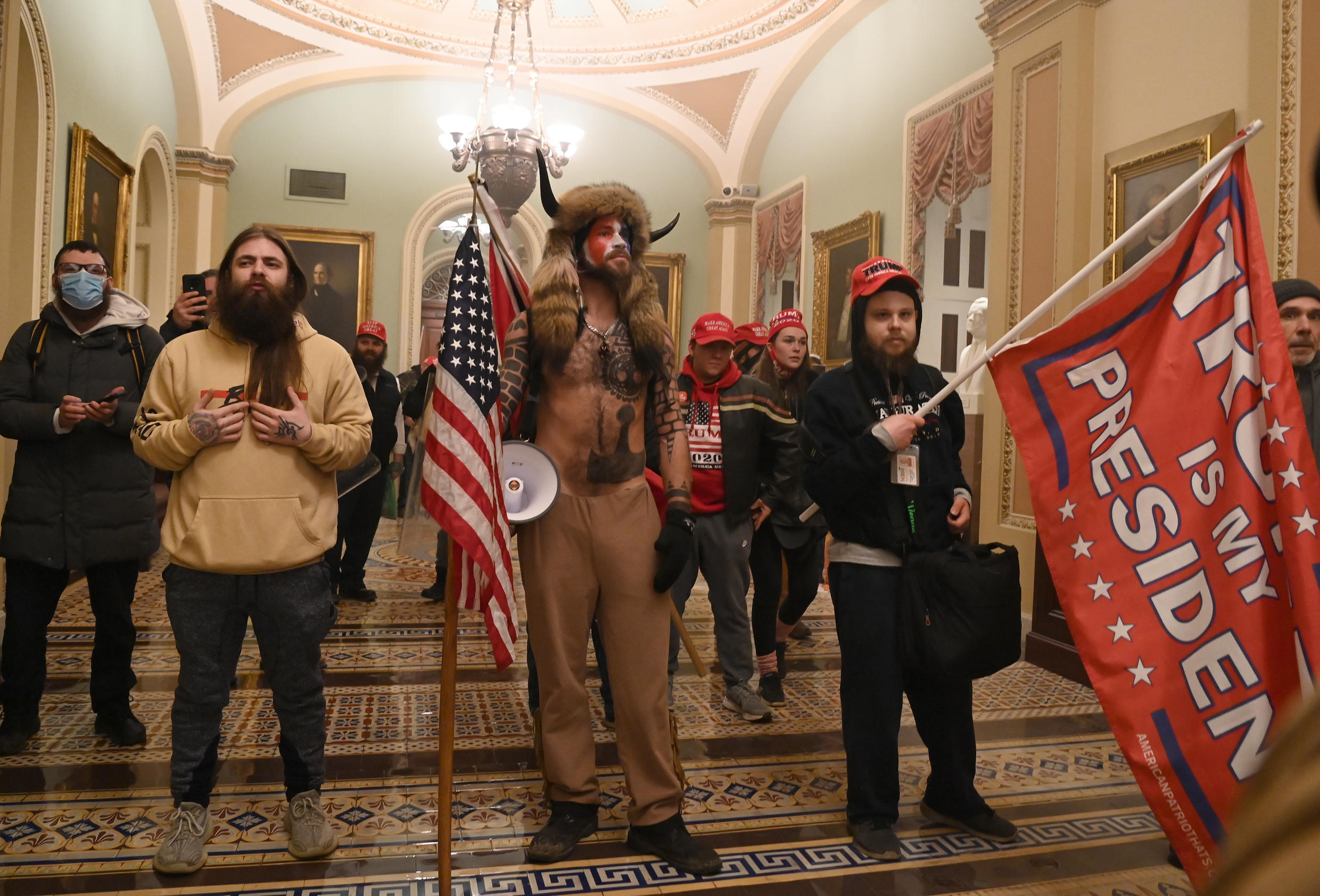 Supporters of President Donald Trump storm the US Capitol on January 6, 2021, in Washington, DC.