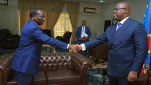 Une photo de Sylvestre Ilunga Ilunkamba lors de sa nomination par le président Tshisekedi, publié sur le compte twitter de la présidence de RDC.