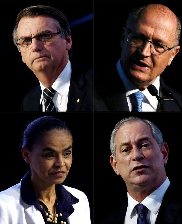 Archivo: Jair Bolsonaro, Geraldo Alckim (primera línea de izquierda a derecha). Marina Silva, Ciro Gomes (segunda línea de izquierda a derecha).