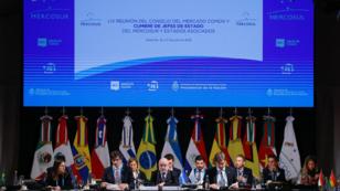 Vista general de la reunión de cancilleres, este martes previo a la Cumbre del Mercosur en la ciudad de Santa Fe, Argentina. 16 de julio de 2019.
