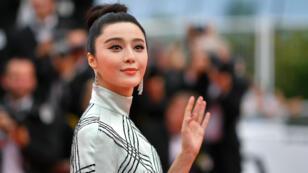 """L'actrice chinoise Fan Bingbing, à son arrivée au 70 ème festival de Cannes, le 26 mai 2017, à l'occasion de la projection du film """"L'agent double""""."""