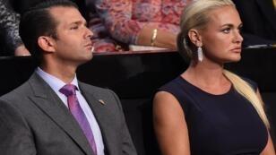 Donald Trump Jr. et sa femme, le 21 juin 2016, lors de la Convention nationale républicaine, à Cleveland (Ohio).