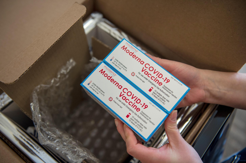Le vaccin Moderna à Boston (Etats-Unis), le 24 décembre 2020