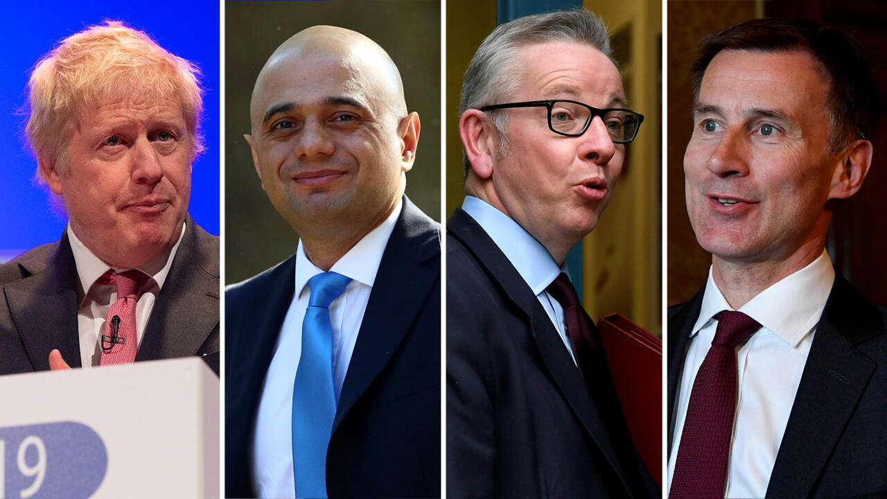 Boris Johnson, Sajid Javid, Michael Gove y Jeremy Hunt