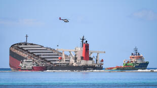 The MV Wakashio ran aground off Mauritius in July and is leaking fuel into the island's pristine coral-filled waters