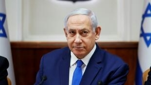 "Israeli Prime Minister Benjamin Netanyahu on Sunday warned the head of Lebanon's Tehran-backed Hezbollah that ""crushing"" retaliation would follow any attack"