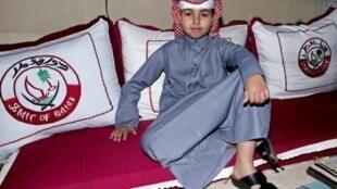 Ali Mohammed Ali Alazba, un enfant qatari diabétique, pose pour une photo le 3 janvier 2019 lors d'un camp hebdomadaire pour diabétiques à Doha