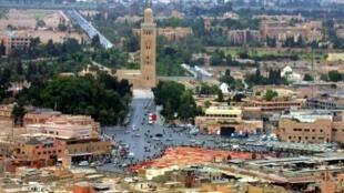 مشهد عام لمدينة مراكش في 29 أيلول/ سبتمبر 2001