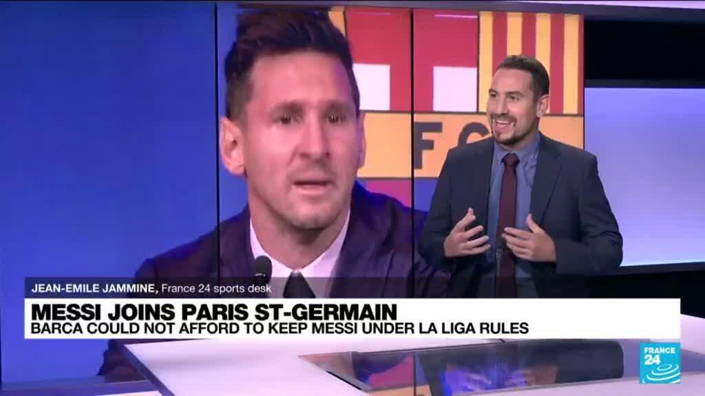2021-08-11 06:10 Messi signs for Paris St Germain after leaving Barcelona