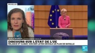 2020-09-16 13:02 Ursula von der Leyen a dévoilé un plan de bataille autour de la relance économique et du climat