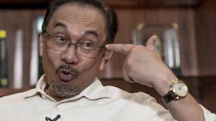 Anwar Ibrahim au cours d'une interview avec l'AFP, le 30 septembre 2014.