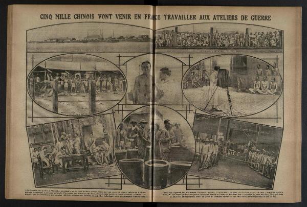 L'arrivée des travailleurs chinois annoncée dans le numéro du 22 août 1916 du quotidien l'Excelsior