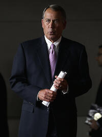 US House Speaker John Boehner (R-OH), an outspoken advocate of the controversial metadata programme.  Photo © Win McNamee, Getty Images / AFP.