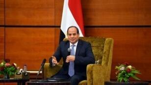 صورة وزعتها الرئاسة المصرية للرئيس عبد الفتاح السيسي في 20 تموز/يوليو 2018