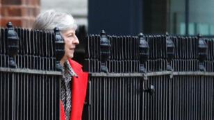 La Première ministre britannique Theresa May quite le 10 Downing Streert, le 16 novembre 2018.