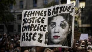 Manifestation contre les violences faites aux femmes le 6 octobre 2018 à Paris.