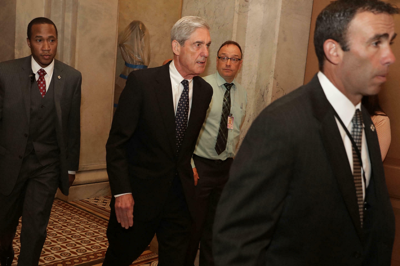 Former FBI Director Robert Mueller at a meeting with Senators June 21, 2017 in Washington.