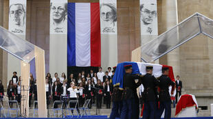 La cérémonie d'hommage pour les quatre entrants à la Sorbonne, le 26 mai 2015
