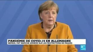 2021-03-24 13:40 Covid-19 en Allemagne : Merkel fait marche arrière sur les restrictions de Pâques