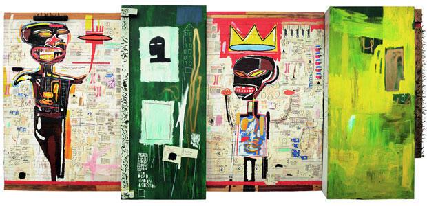 Acrylique, huile, collage de photocopie, crayon gras, et clou sur bois, 45,7cm x 243,7 x 537 cm Fondation Louis Vuitton pour la Création © The Estate of Jean-Michel Basquiat © ADAGP, Paris 2010
