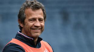 Le sélectionneur du XV de France Fabien Galthié le 7 mars 2020 à Edimbourg