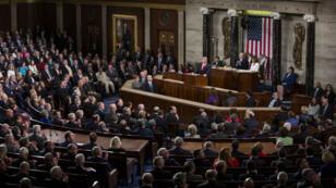 Les parlementaires américains réunis au Capitole, à Washington, pour le discours sur l'état de l'Union le 5 février 2019.