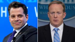 Anthony Scaramucci, nouveau directeur de la communication de la Maison Blanche (g), et Sean Spicer (d).