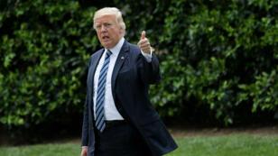Donald Trump à la Maison Blanche le 28 avril 2017.