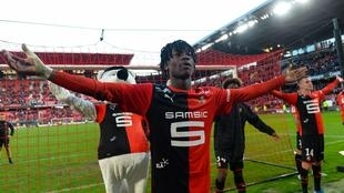 Rennes Eduardo Camavinga featured for France's under 21 side last November