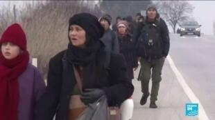2020-02-28 14:31 Guerre en Syrie : des centaines de migrants syriens se dirigent vers la frontière grecque