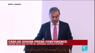 """2020-01-08 14:12 Carlos Ghosn decries the """"petty, vindictive, lawless individuals in government at Nissan"""""""