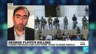 2020-06-04 10:03 US Defence chief opposes Trump's will to send troops to quell George Floyd protests