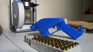 """Le pistolet """"Liberator"""" créé à partir d'une imprimante 3D."""