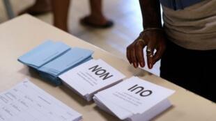 Un centro de votación en Numea, en medio del referendo de autodeterminación. 4 de noviembre de 2018.
