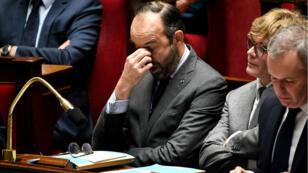 Edouard Philippe visiblement éprouvé lors de la séance de questions au gouvernement le 18 décembre 2018.