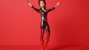 Photo fournie par Mattel le 11 juillet 2019 de la Barbie David Bowie