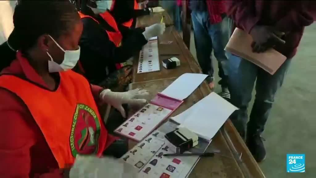 2021-08-12 14:06 Zambians start voting in elections seen as test of democracy