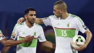 La paire offensive des Fennecs, Ryad Mahrez et Islam Slimani.