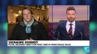 2019-12-09 18:05 Ukraine summit: Putin, Zelensky meet for first time at Paris peace talks