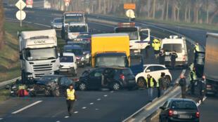 En Vendée, un double carambolage a coûté la vie à cinq personnes, le 20 décembre 2016.