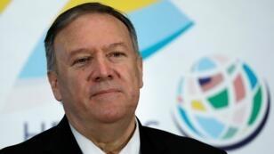 El Secretario Pompeo durante el evento de lanzamiento de la Diplomacia de los Héroes de los Estados Unidos en Washington.