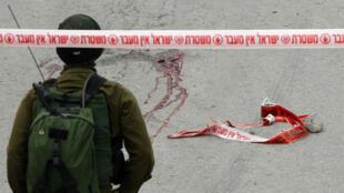L'assaillant palestinien a été abattu d'une balle dans la tête, le 24 mars à Hébron.