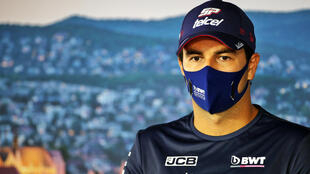 Sergio Perez pictured at the Hungarian Grand Prix earlier this month