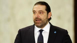 L'ex-Premier ministre libanais, Saad Hariri, le 3 novembre 2016, après sa nomination.