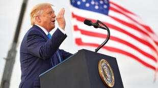 US President Donald Trump took his campaign to key battleground state Pennsylvania as the race heats up