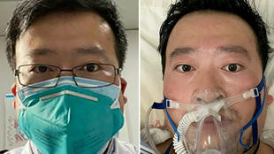 This combination of pictures created on February 7, 2020 shows undated photos obtained on February 7, 2020 of Chinese coronavirus whistleblowing doctor Li Wenliang