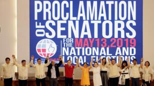 Juramentación oficial de senadores electos en Manila, Filipinas, el 22 de Mayo de 2019