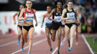 Les concurrentes du 1500 m lors du meeting de Lausanne, le 5 juillet 2018