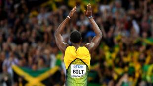 Usain Bolt celebra este viernes su clasificación a la semifinal del sábado.